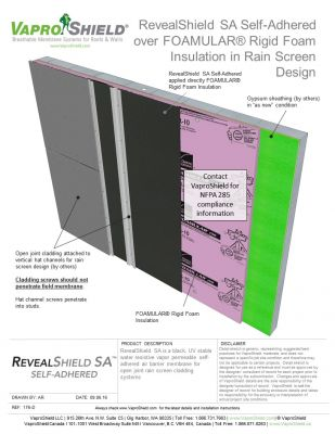 RevealShield SA over FOAMULAR in Rain Screen Design