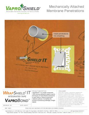 WrapShield IT Penetrations with VaproBond