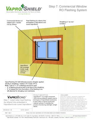 WrapShield SA Commercial Window Rough Opening Flashing with VaproBond Sequence
