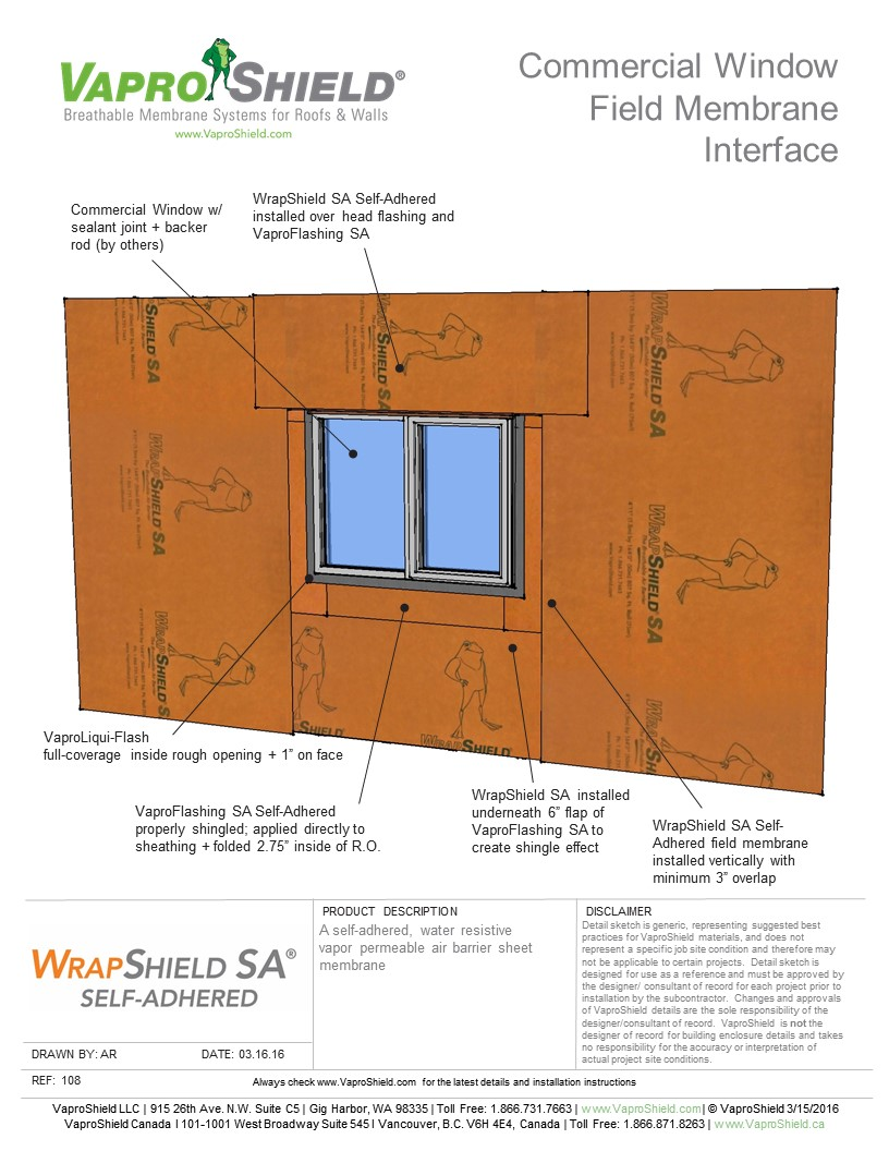 Commercial Window Field Membrane Interface with WrapShield SA