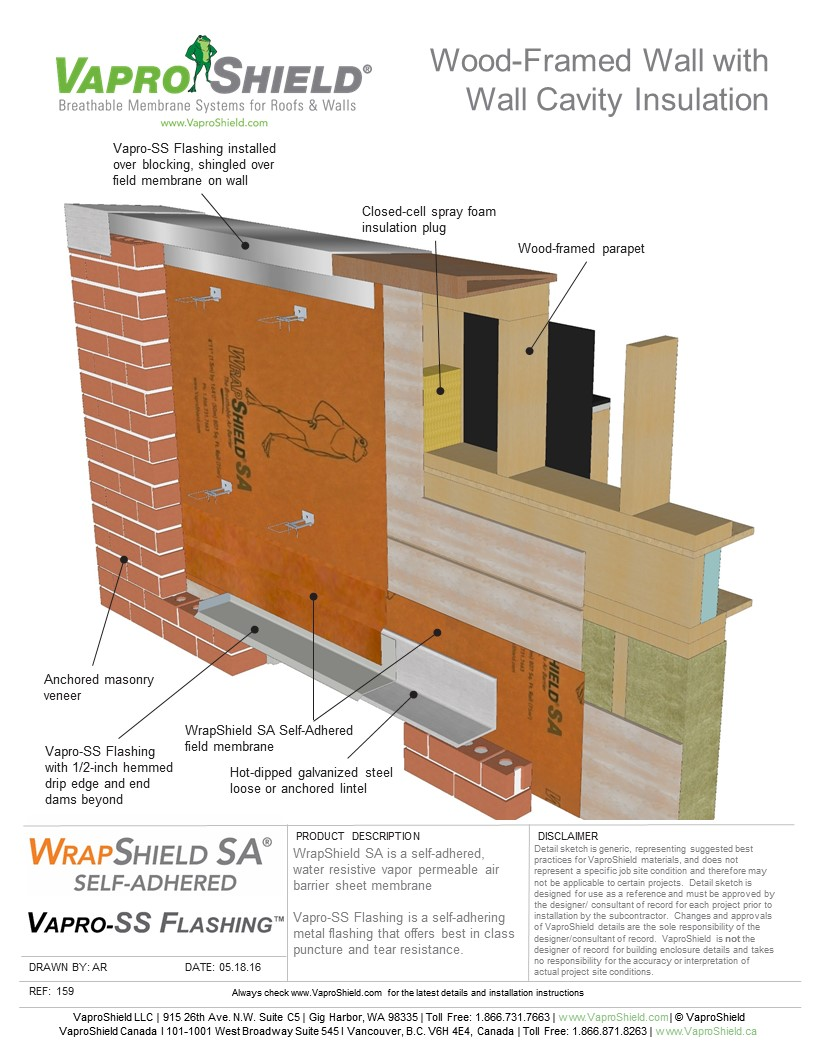 Wood-Framed Wall with Wall Cavity Insulation