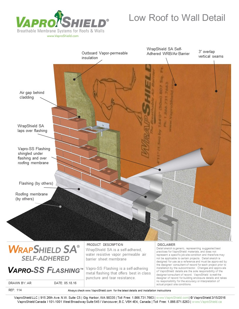 VS 114 WrapSA LowRoofToWall 051816