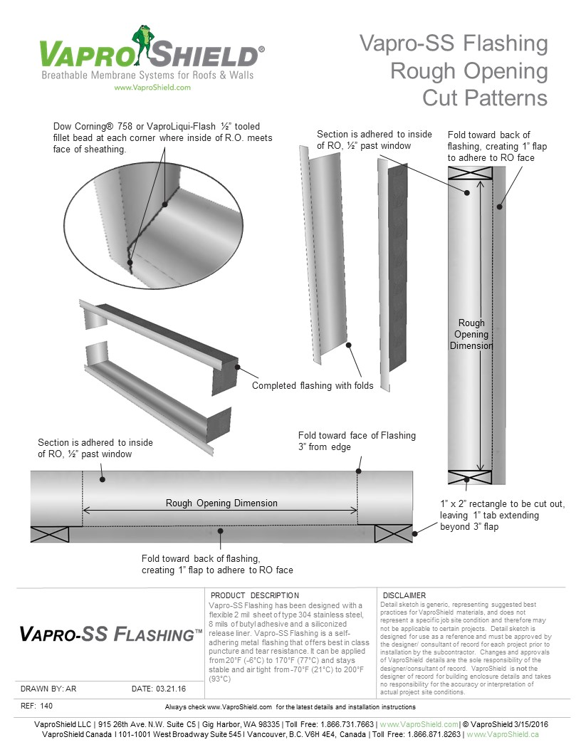 VS 140 VaproSSFlashing Cut Patterns 040116