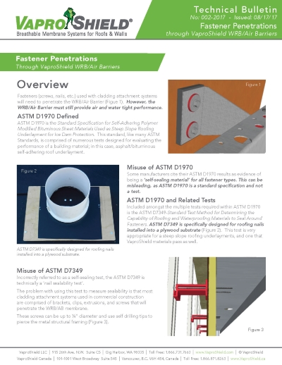 TechnicalBulletin FastenerPenetration 082317 Page 1