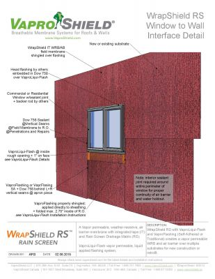 WrapShield RS Window to Wall Interface