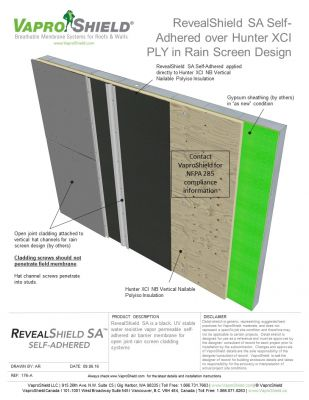 RevealShield SA over Hunter XCI in Rain Screen Design