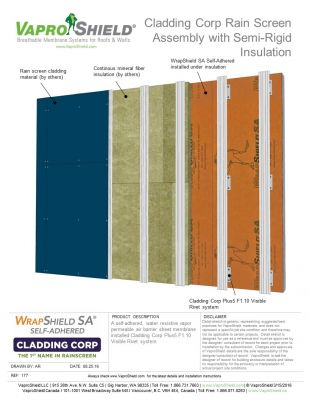 Cladding Corp F1.10 Rain Screen Assembly with Semi-Rigid Insulation