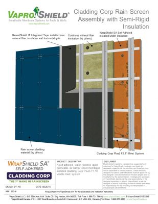 Cladding Corp F2.11 Rain Screen Assembly with Semi-Rigid Insulation