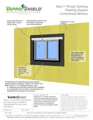 RevealShield SA Commerical Window Rough Opening Flashing with VaproBond Sequence