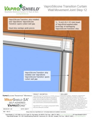 VaproSilicone Transition Sheet Curtain Wall Detail