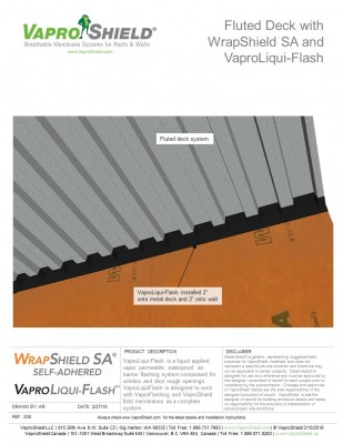 Fluted Deck with WrapShield SA and VaproLiqui-Flash