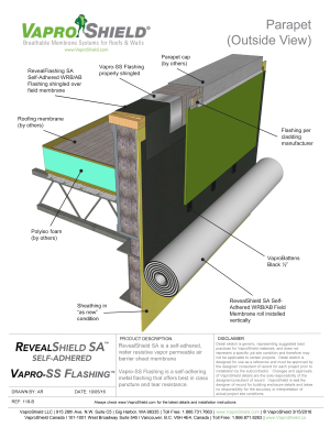 Parapet with RevealShield SA and RevealFlashing SA