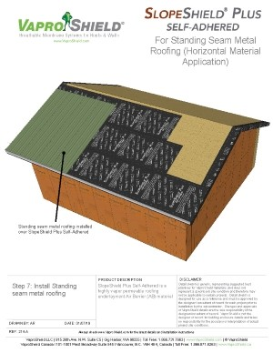 SlopeShield Plus Self-Adhered with Metal Roofing