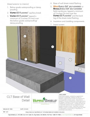 CLT Base of Wall