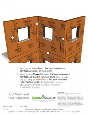 CLT Wall Panel Field Application