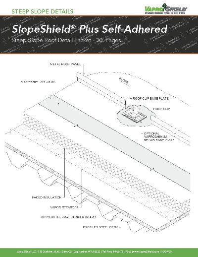 SlopeShield Plus Self-Adhered Steep Slope Details