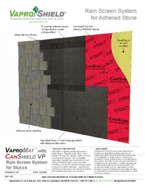 CanShield VP VaproMat Stone Cladding
