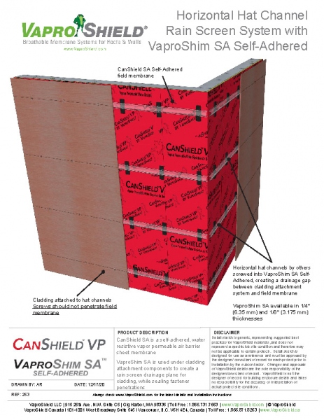 CanShield VP Rainscreen with VaproShim SA