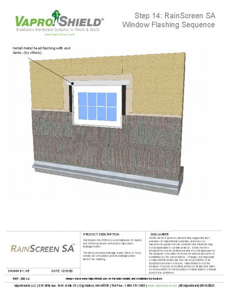 RainScreen SA Flashing and Wall Sequence