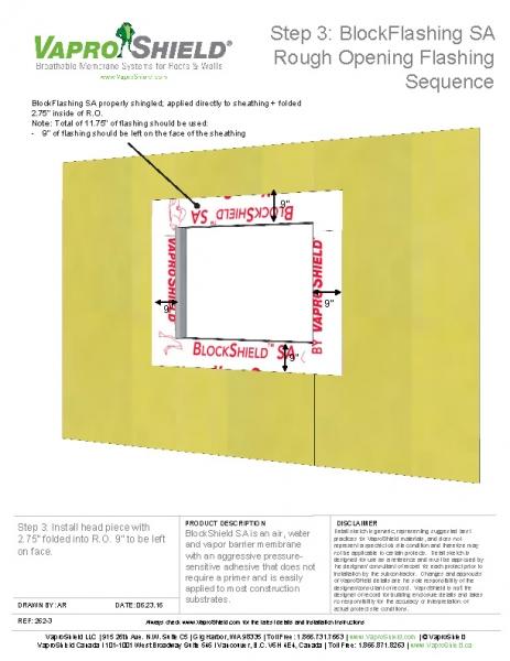 BlockFlashing Sequence with WrapShield SA
