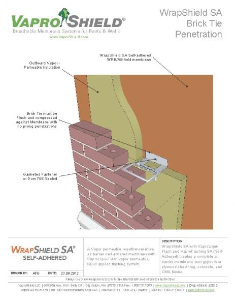 Brick Tie Penetration