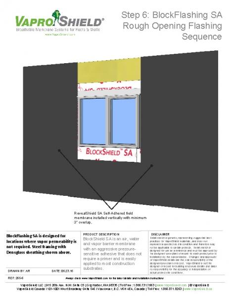 BlockFlashing Sequence with RevealShield SA