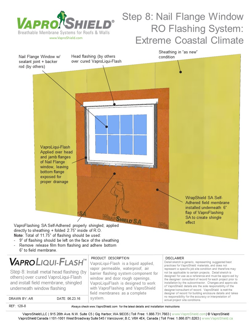 Nail Flange Window RO Flashing System: Extreme Coastal Climate